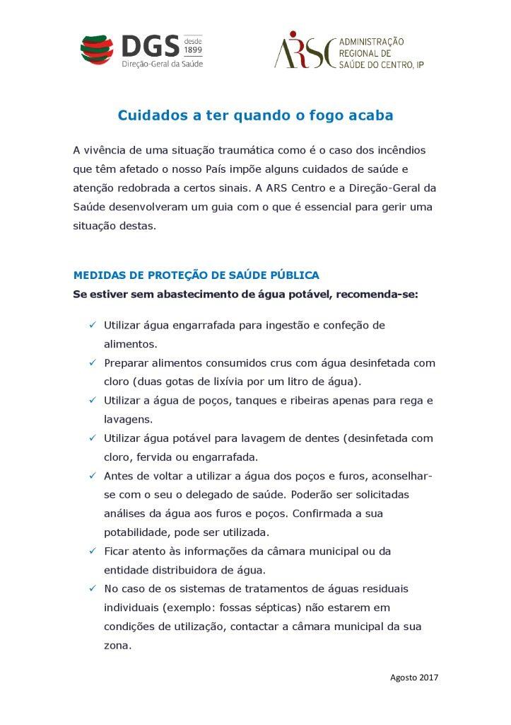 thumbnail of Cuidados a ter quando o fogo acaba_DGS_ARSC_agosto2017